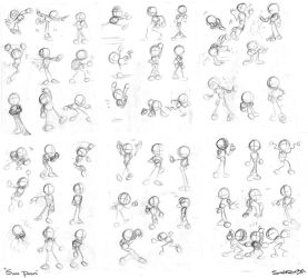 'Sonic' Poses Refrence by Gigi-D