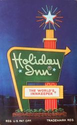 Vintage Advertising Card - Holiday Inn by Yesterdays-Paper