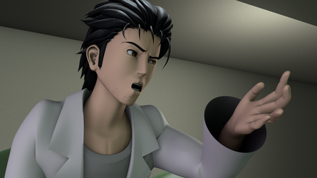 Okabe Rintarou 3D Character Model by TheRPGPlayer