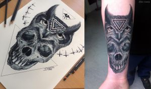 Did a tattoo of my drawing by AtomiccircuS