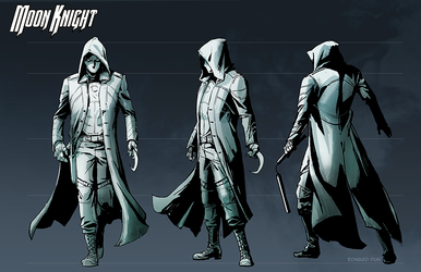 Moon Knight costume design by pungang
