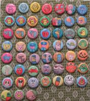 52 buttons by popartmonkey