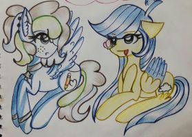 Candy Crusher and Cloud Thunder by selenamoon12