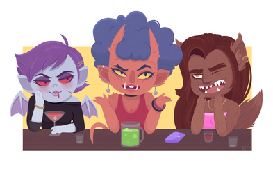 Ghouls' Night Out by beyx