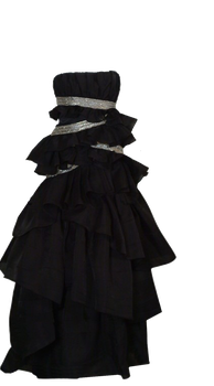 Black Ball Gown 5 PNG by Vixen1978
