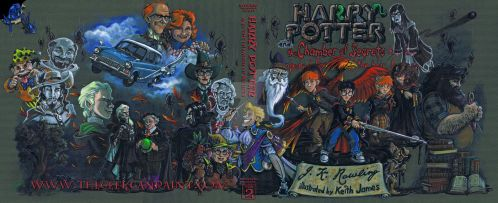 Harry Potter: Book 2 Cover by TheGeekCanPaint
