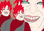 Gaara Laughing by RienneCheshire