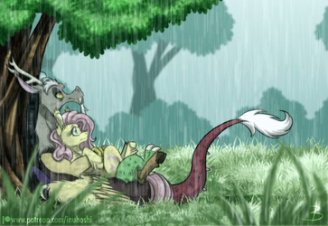 Sheltered from the Rain by InuHoshi-to-DarkPen