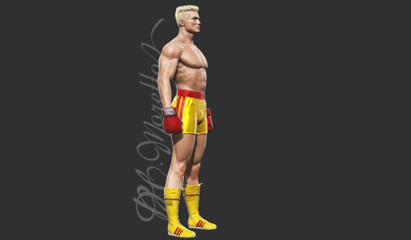 1985 Ivan Drago - alternative outfit by Pedro-Moretto