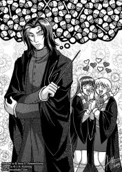 Snape and his Fangirls by aimo