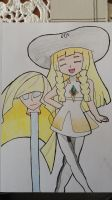 Lillie to Lusamine Disguise (Lillie's Mother) by StuAnimeArt