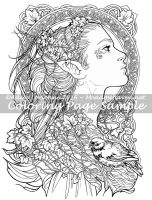 Art of Meadowhaven Coloring Page: Elvish by Saimain