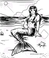 Quick Sketch: Mermaid Angel by avimHarZ