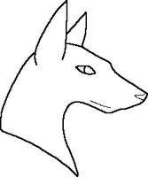 MS Paint Dog Lineart4 by Kayori-Ayane