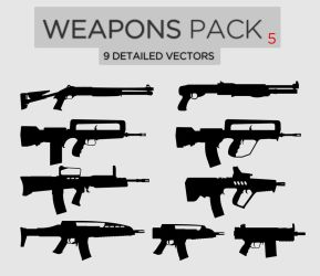 Weapons Pack #5 by Zee-Who