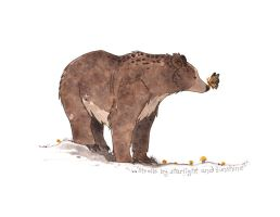 Bear and Butterfly Moth by morganobrienart
