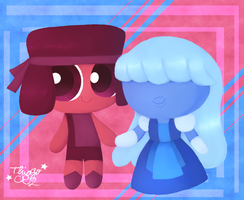 Puffed: Ruby and Sapphire by Thiago082