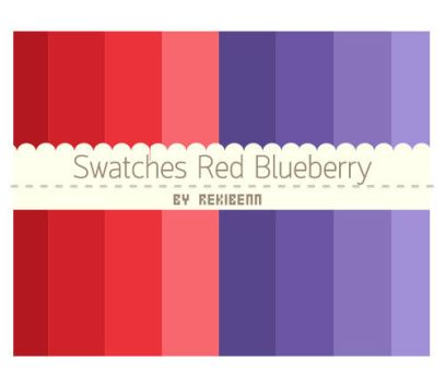Swatches red blueberry by TheSeekerReki