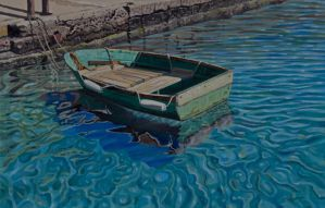 The old green boat by FredaSurgenor