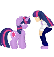 (Point Commision) Twilight meets Twilight by mlpandlpsprincess