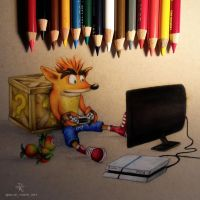 Crash Bandicoot by Blue-Tiger-Art