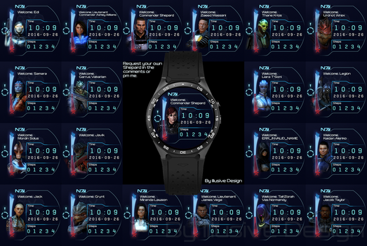 Mass Effect Watchfaces by Illusive-Design