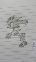 Sonic - Running (Side) by SonicDBZFan4125
