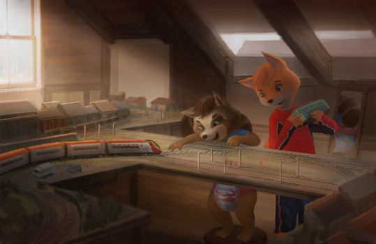 Friendly's New Friend - Trains in the Attic by Foxfan1992