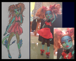 Moster High doll repaint by Amelyanna