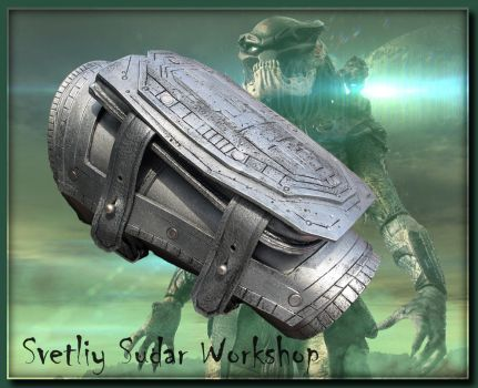 Leather Bracer-cover Predator by Svetliy-Sudar