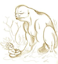 Mud Spirit Hanging with Spring Baby by Underthesaddle