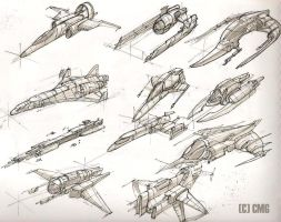 Space ships 6 by MeckanicalMind