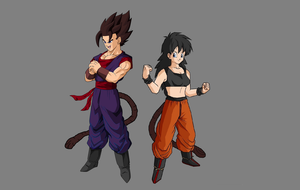 Mr. and Mrs. Saiyan by zx49