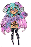 Melody -Lockette chibi commission by Guppie-Vibes