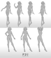 P2U - Full body female base [OPEN] by Popza10CM