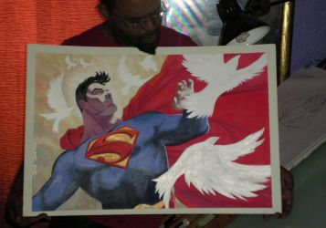 Super Heroes con painting by BroHawk