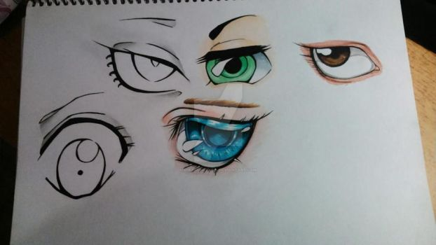 Collection of eyes colored by HikaruHeeysin