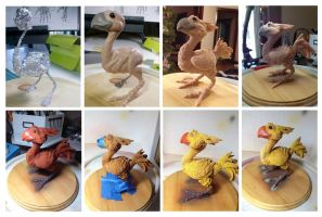 Progression of a Chocobo by WithPencilInHand