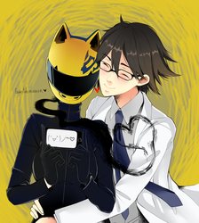 Shinra and Celty by fairytalemirror