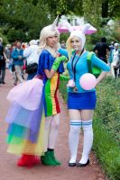 Fionna and Lady Rainicorn by MayoInvasion