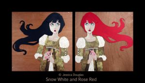 Snow white and rose red by JessicaDouglas