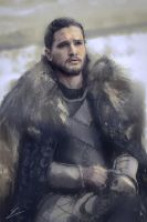 Jon Snow Portrait by Carl-Ellistrator