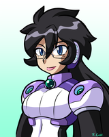 Reploid Miss Violet bust by rongs1234