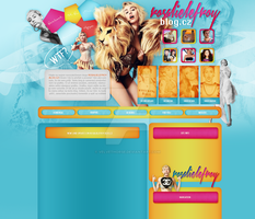 Miley Cyrus layout 3 by VelvetHorse