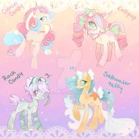 Candy Pony Collab Adopts Some lowered prices by Piichu-Pi