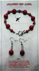 Red Coral Set by KAW-7391