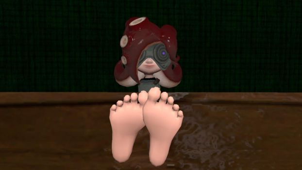 Octoling's feet mask on (request) by hectorlongshot