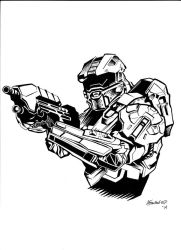 Master Chief by Aaron-Frankenfield