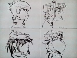 Gorillaz: Demon Days (inked) by beetlejacks