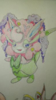 Florges Wigglytuff Fusion by cereza13